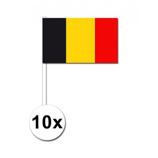 10 zwaaivlaggetjes Belgische vlag
