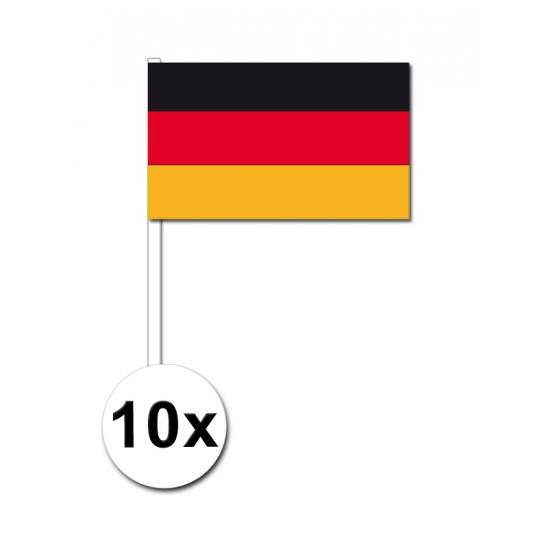 10 zwaaivlaggetjes Duitse vlag