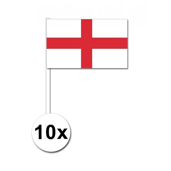 10 zwaaivlaggetjes Engelse vlag
