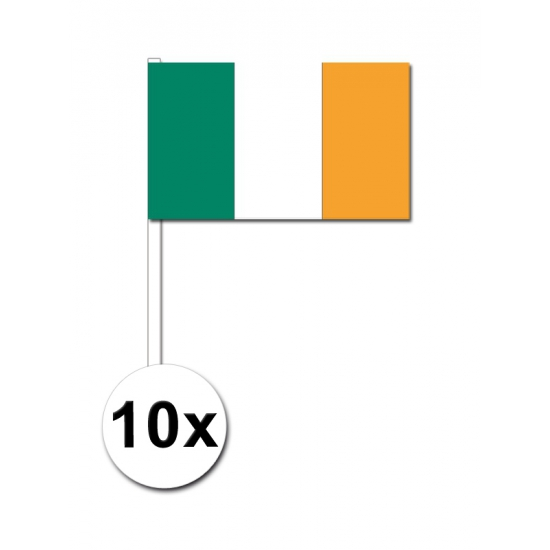 10 zwaaivlaggetjes Ierse vlag