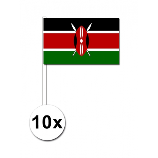 10 zwaaivlaggetjes Kenia vlag