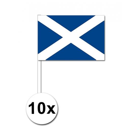 10 zwaaivlaggetjes Schotse vlag