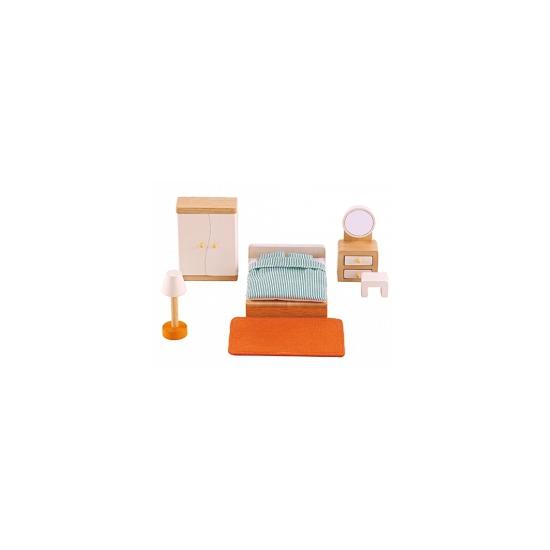 12 delige poppenhuis meubelset slaapkamer