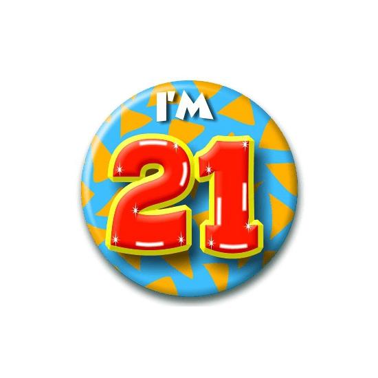 21 jaar button