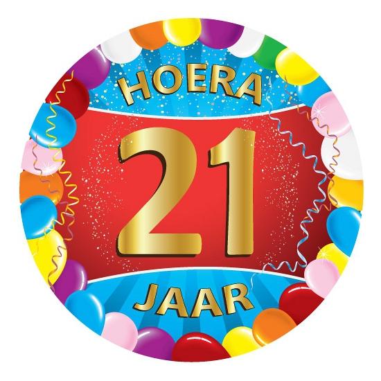 21 jaar verjaardag party viltjes