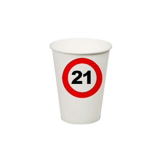 21e verjaardag party bekertjes