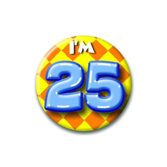 25 jaar button