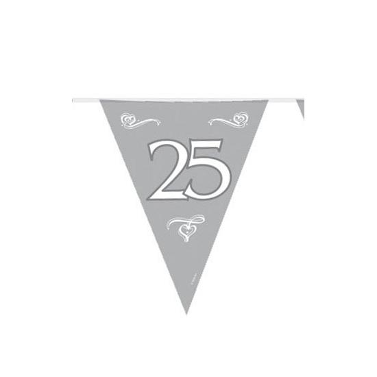 25 jaar jubileum versiering vlaggenlijn