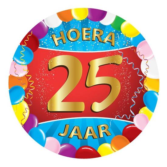 25 jaar verjaardag party viltjes