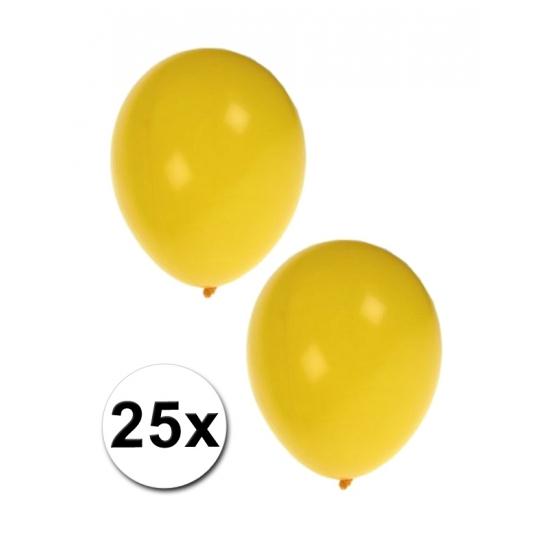 25 stuks gele feest ballonnen