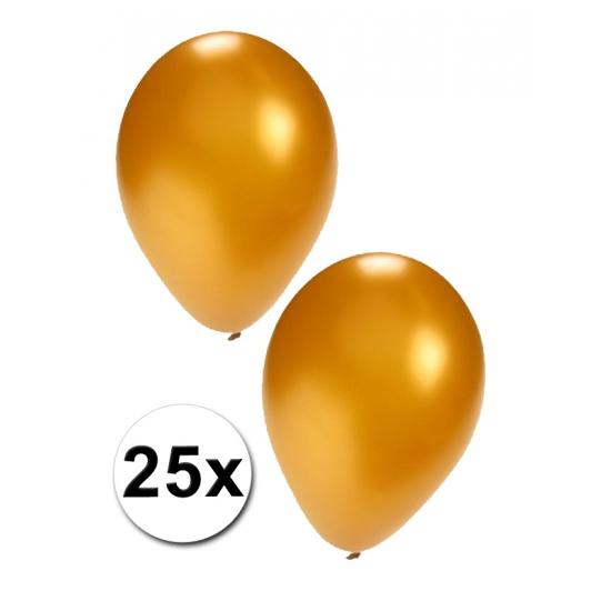 25x gouden feest ballonnen