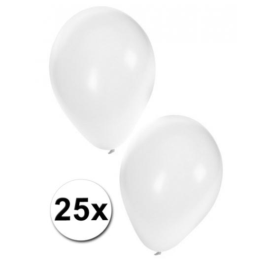 25x witte feest ballonnen
