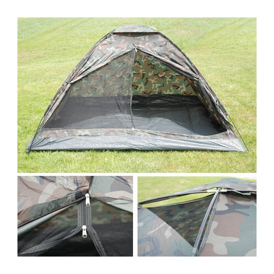 3 persoons camouflage tent