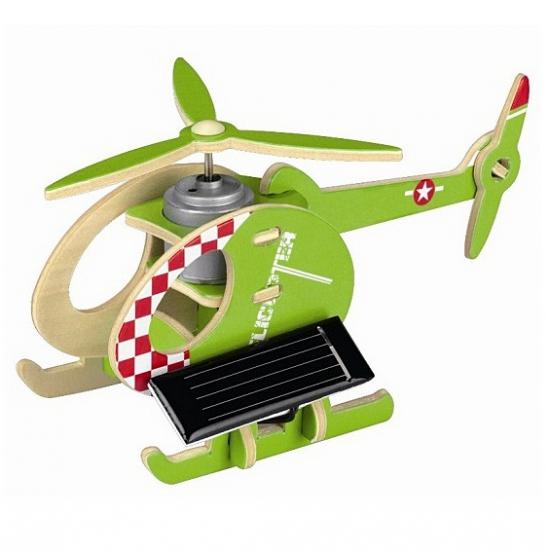 3D helikopter puzzel blauw groen