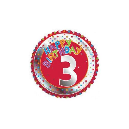 3e verjaardag helium ballon