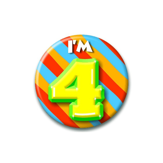 4 jaar button
