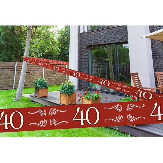 40 jaar jubileum markeerlint rood