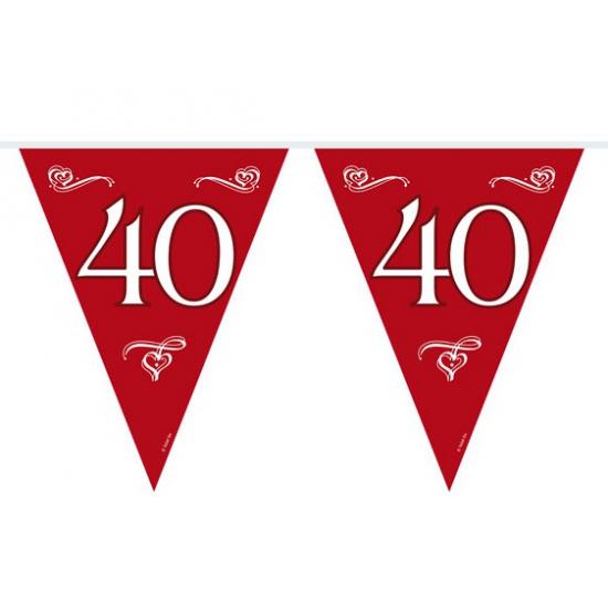 40 jaar jubileum slinger rood