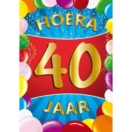 40 jaar thema mega deurposter