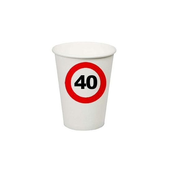40e verjaardag party bekertjes