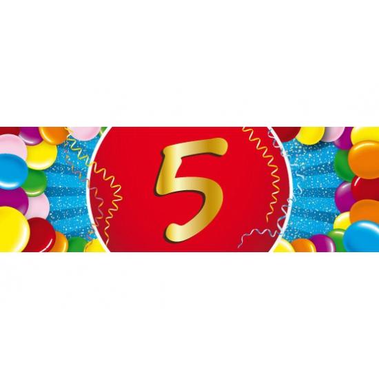 5 jaar versiering sticker