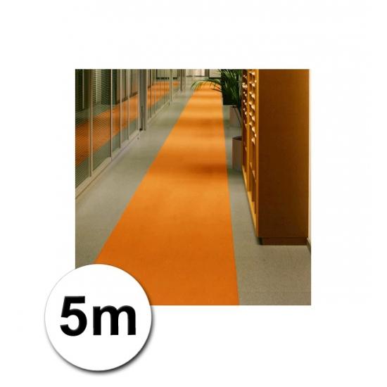 5 meter lange loper in de kleur oranje 1 meter breed