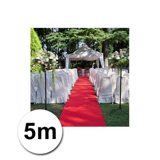 5 meter lange loper in de kleur rood 1 meter breed