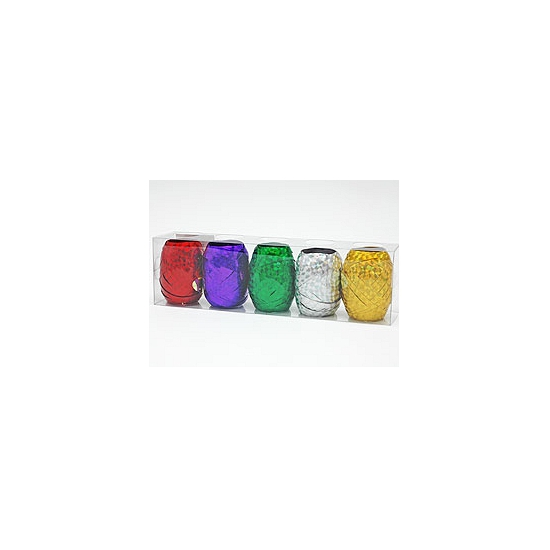 5 rollen gekleurd kado lint