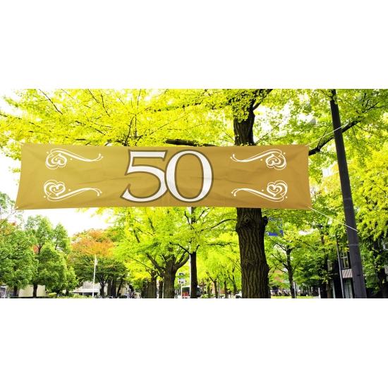 50 jaar jubileum banner goud
