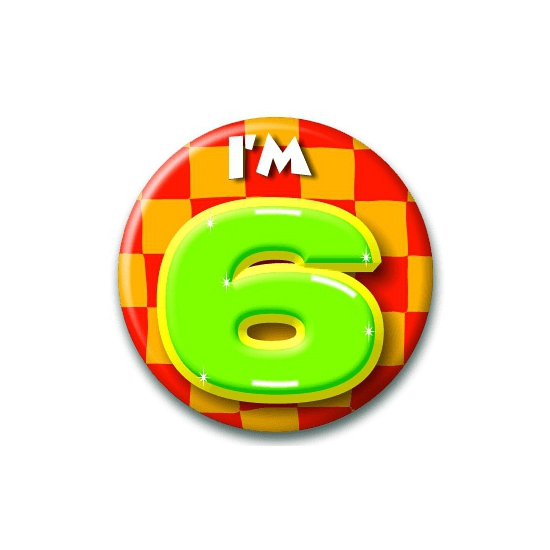 6 jaar button