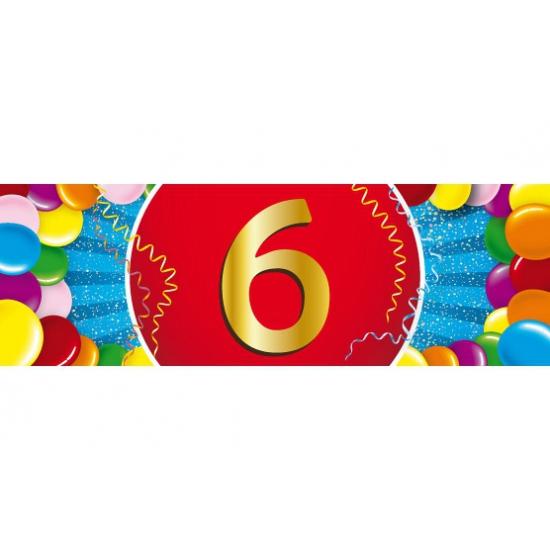6 jaar versiering sticker