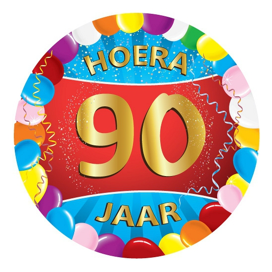 90 jaar verjaardag party viltjes