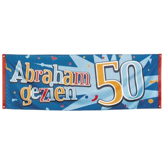 Abraham gezien straat banier 74 x 220
