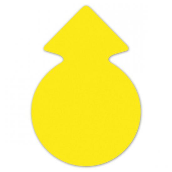 Actie cirkel pijlen neongeel 23 cm