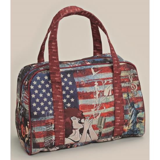Amerikaanse tas in jazz style rood 32 cm