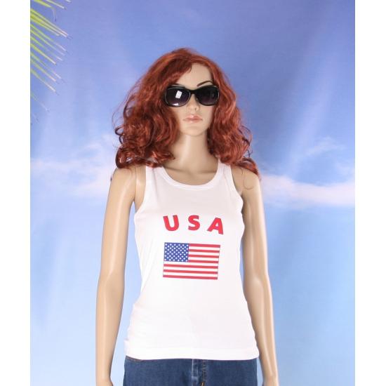 Amerikaanse vlag tanktop  singlet voor dames