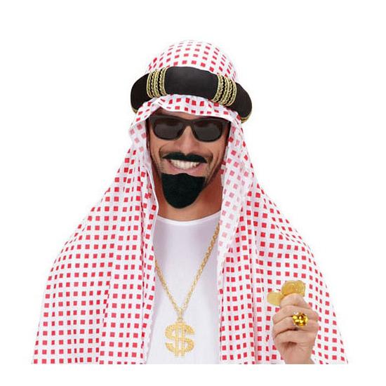 Arabische baard met snor zwart