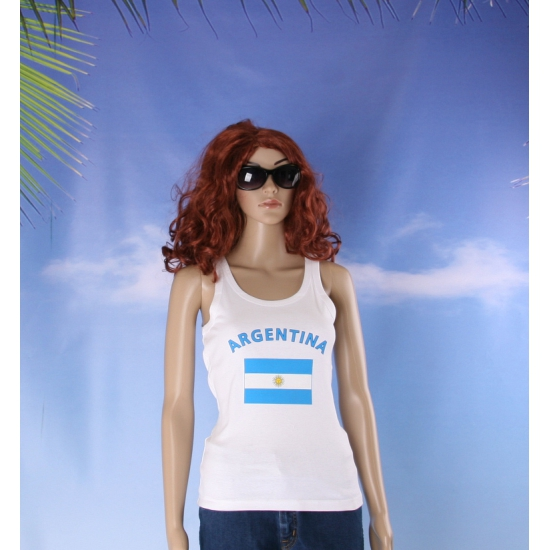 Argentijnse vlag tanktop/ singlet voor dames