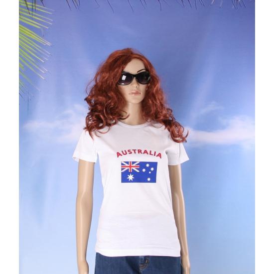 Australische vlaggen t shirt voor dames