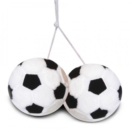 Auto gadget voetballetjes van pluche