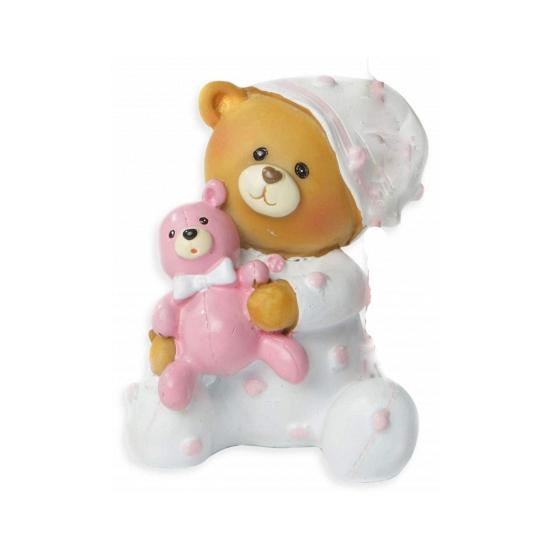 Baby beertje roze spaarpot