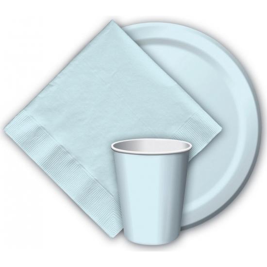 Babyblauwe bekertjes 266 ml