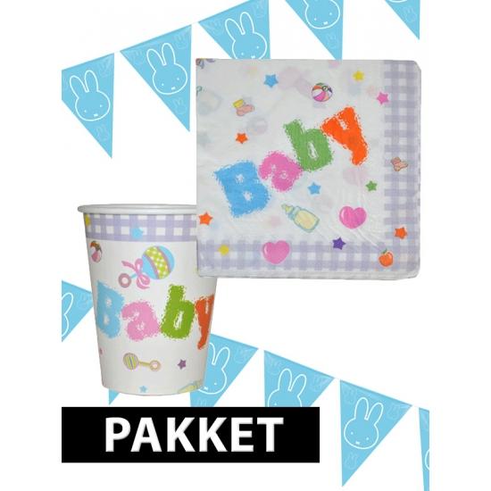 Babyshower versiering pakket blauw