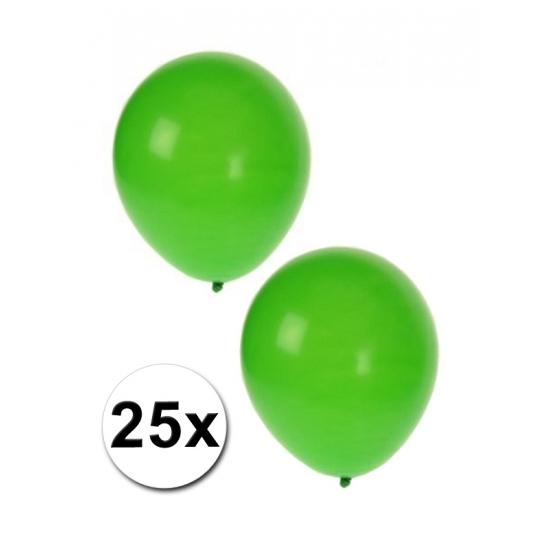 Ballonnen groen 25 stuks