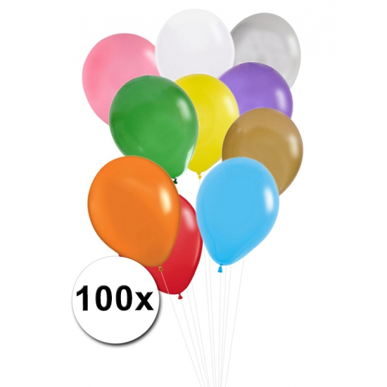 Ballonnen in verschillende kleuren