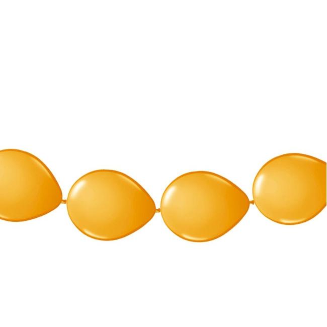 Ballonnen om slingers van te maken oranje 3 meter