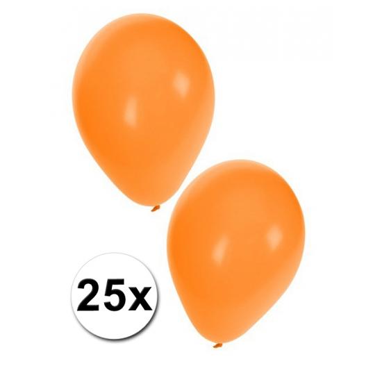 Ballonnen oranje in zakje 25 stuks