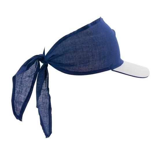Bandana zonneklep blauw