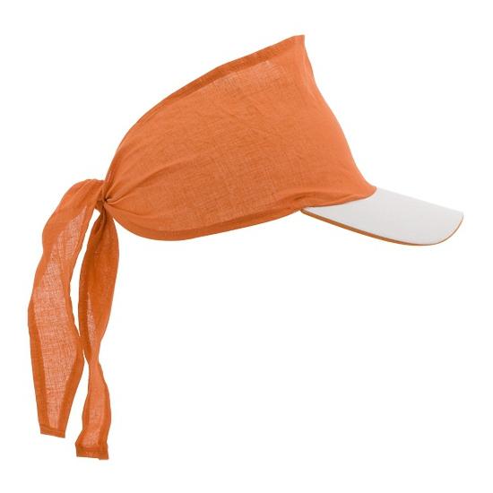 Bandana zonneklep oranje