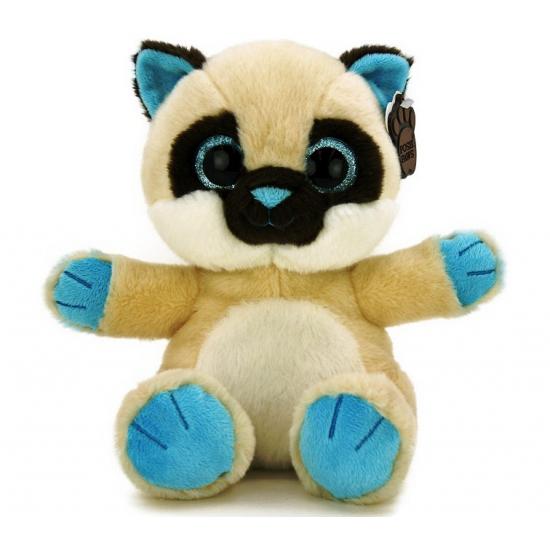 Beige knuffel kat 22 cm